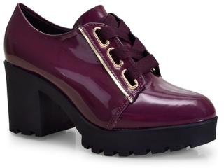 Sapato Feminino Vizzano 1294101 Vinho - Tamanho Médio