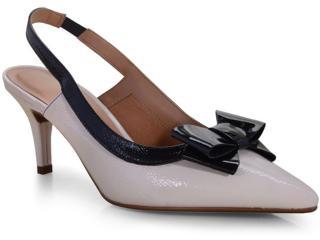 Sapato Feminino Vizzano 1185176 Creme/preto - Tamanho Médio