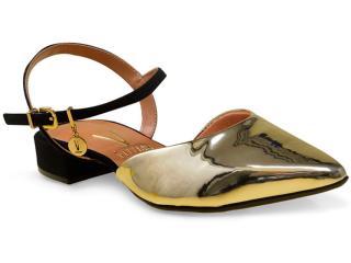 Sapato Feminino Vizzano 1833105 Dourado/preto - Tamanho Médio