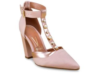 Sapato Feminino Vizzano 1264103 Nude/ouro Rosado - Tamanho Médio