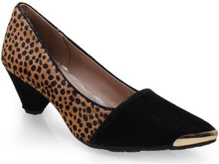 Sapato Feminino Dakota 5863 Preto/guepardo/natural/champag - Tamanho Médio