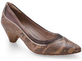 Sapato Feminino Dakota 5861 Natural/bronze - Tamanho Médio
