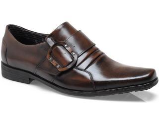 Sapato Masculino Ferracini 3836 Arcos Conhaque - Tamanho Médio