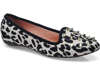 Sapato Feminino Moleca 5007260 Multi/branco - Tamanho Médio
