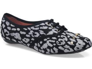 Sapato Feminino Moleca 5007262 Multi/preto - Tamanho Médio