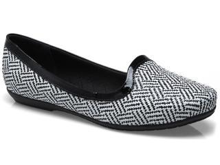 Sapato Feminino Piccadilly 240.040 Preto/branco - Tamanho Médio