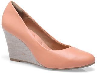Sapato Feminino Ramarim 13-98201 Linho/pêssego - Tamanho Médio