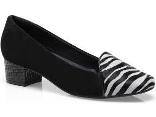 Sapato Feminino Ramarim 13-90205 Zebra/preto - Tamanho Médio