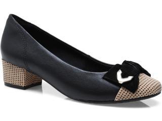Sapato Feminino Ramarim 13-90204 Preto/ouro - Tamanho Médio