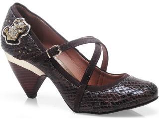 Sapato Feminino Tanara 5142 Chocolate - Tamanho Médio