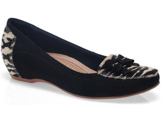 Sapato Feminino Usaflex 2204 Zebra/preto - Tamanho Médio