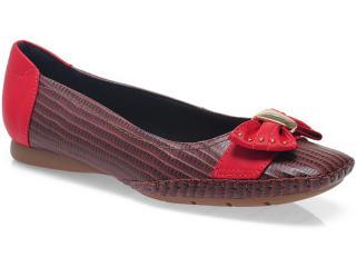 Sapato Feminino Usaflex 3213 Marrom/cereja - Tamanho Médio