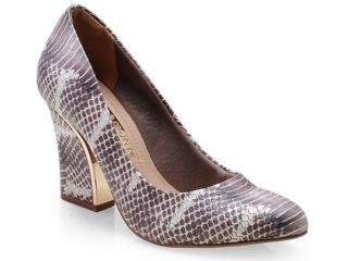 Sapato Feminino Via Marte 14-201 Chumbo - Tamanho Médio
