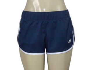 Short Feminino Adidas Ce2013 M10 Wovens Azul/branco - Tamanho Médio