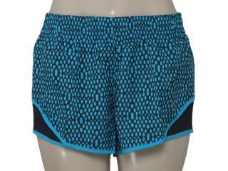 Short Feminino Nike 686213-407 Mirror Mesh Racer Preto/azul - Tamanho Médio
