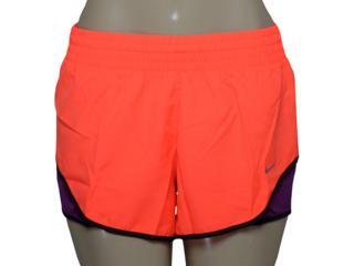 Short Feminino Nike 686024-877 Racer Woven Laranja/roxo - Tamanho Médio