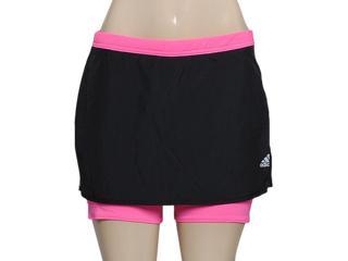 Short Saia Feminina Adidas M61858 Response w Preto/pink - Tamanho Médio