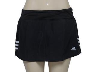 Short Saia Feminina Adidas Aa5655 Resp w Preto/branco - Tamanho Médio
