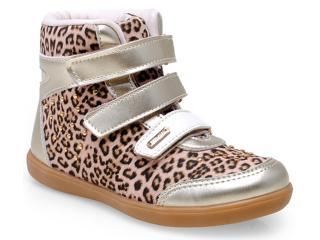 Sneaker Fem Infantil Pampili 403.014.9895 Onca Dourado - Tamanho Médio