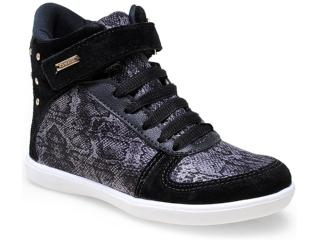 Sneaker Fem Infantil Pampili 403.019.0080 Preto - Tamanho Médio