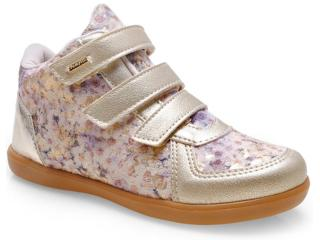 Sneaker Fem Infantil Pampili 403.029.599 Dourado/areia - Tamanho Médio