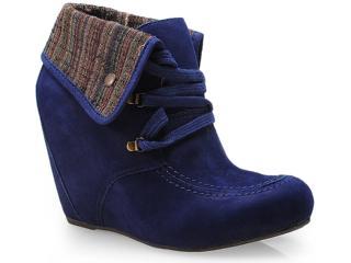 Sneaker Feminino Cravo e Canela 131502/3 Dark Azul - Tamanho Médio