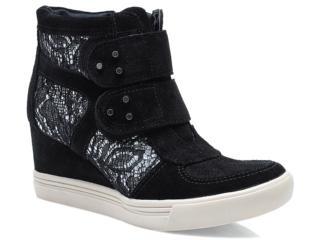 Sneaker Feminino Via Marte 13-3909 Preto - Tamanho Médio