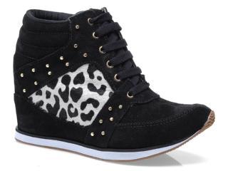 Sneaker Feminino Via Marte 13-17205 Preto/off White - Tamanho Médio