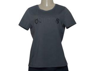 T-shirt Feminino Adidas Du2082 D2m Logo Grafite - Tamanho Médio