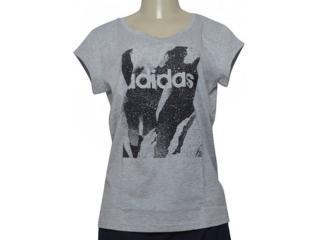 T-shirt Feminino Adidas Du0636 w e Aop Tee Cinza - Tamanho Médio