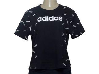 T-shirt Feminino Adidas Dw8017 w Aop Tee Preto/branco - Tamanho Médio