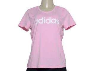 T-shirt Feminino Adidas Du2081d2m Logo Rosa - Tamanho Médio