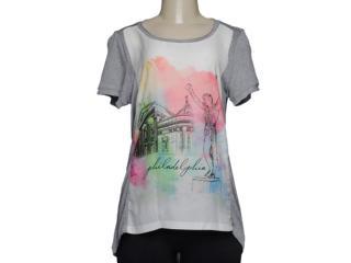 T-shirt Feminino Alto Giro 48708 Mescla Estampada - Tamanho Médio