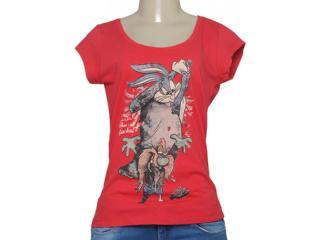 T-shirt Feminino Cavalera Clothing 09.02.2344 Vermelho - Tamanho Médio