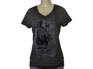 T-shirt Feminino Cavalera Clothing 09.02.2585 Preto Estonado - Tamanho Médio