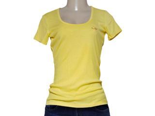 T-shirt Feminino Coca-cola Clothing 343201168 Amarelo - Tamanho Médio