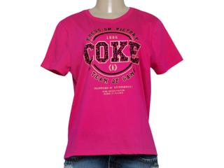 T-shirt Feminino Coca-cola Clothing 343201241 Pink - Tamanho Médio