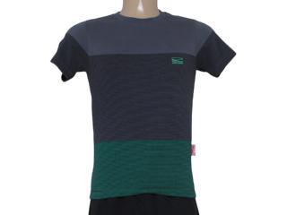 T-shirt Masculino Coca-cola Clothing 353204317 Cinza/verde - Tamanho Médio