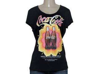 T-shirt Feminino Coca-cola Clothing 343201450 Preto - Tamanho Médio