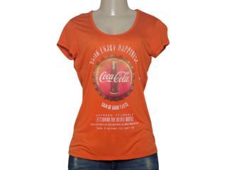 T-shirt Feminino Coca-cola Clothing 343201338 Laranja - Tamanho Médio