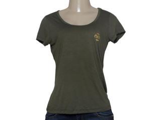 T-shirt Feminino Coca-cola Clothing 343201423 Musgo - Tamanho Médio