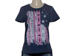 T-shirt Feminino Coca-cola Clothing 345200040 Marinho - Tamanho Médio