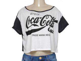 T-shirt Feminino Coca-cola Clothing 343201447 Preto/off White - Tamanho Médio