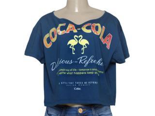 T-shirt Feminino Coca-cola Clothing 343201403 Marinho - Tamanho Médio
