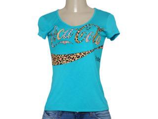 T-shirt Feminino Coca-cola Clothing 343201249 Azul - Tamanho Médio