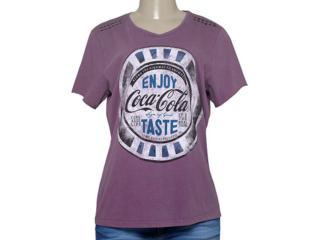 T-shirt Feminino Coca-cola Clothing 343201333 Roxo - Tamanho Médio