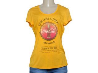 T-shirt Feminino Coca-cola Clothing 343201338 Amarelo - Tamanho Médio