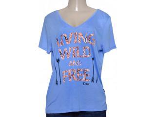 T-shirt Feminino Coca-cola Clothing 343201422 Azul - Tamanho Médio