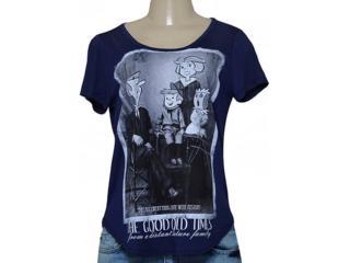 T-shirt Feminino Coca-cola Clothing 345600041 Marinho - Tamanho Médio
