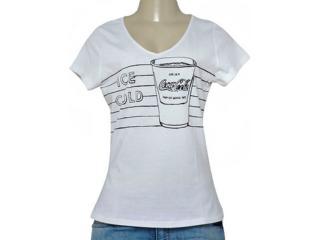 T-shirt Feminino Coca-cola Clothing 343201607 Branco - Tamanho Médio